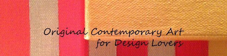 Canvas on canvas art original contemporary art for design lovers