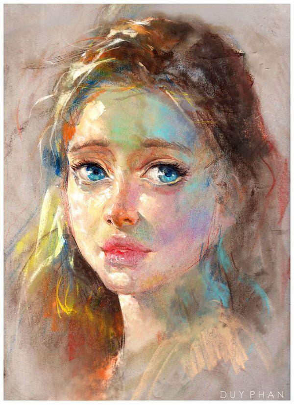 Pastel portrait 2 by bloodyman88.deviantart.com on @DeviantArt