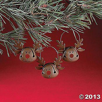Jingle Bell Reindeer Ornaments
