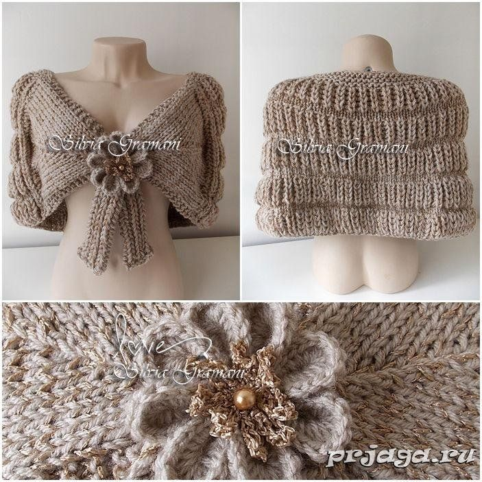 KNITTED NEEDLE CAPE