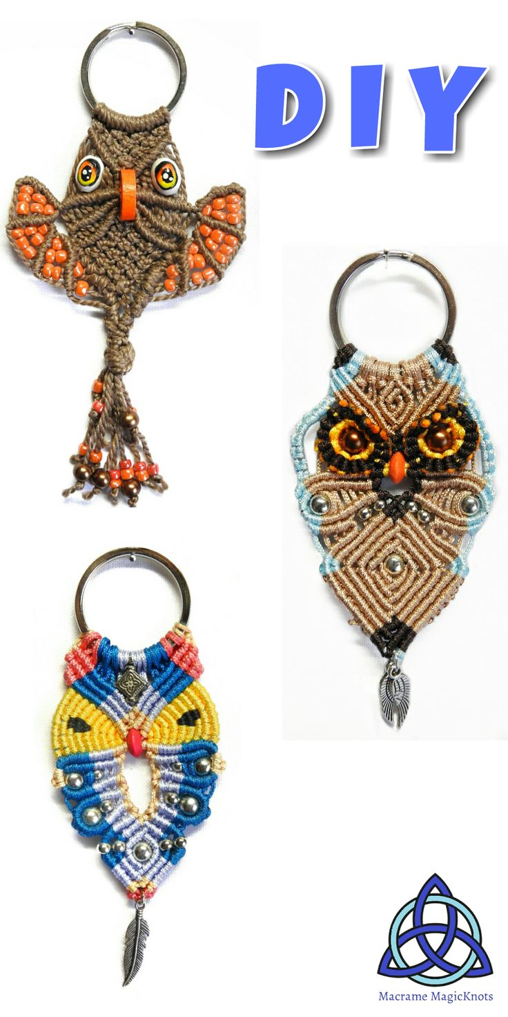 • In this Macrame tutorial video you will see how to make Macrame OWl Key chain  • Follow each step and in just 15-30 min you will have perfect gift for someone you love or for yourself.   ● Share my videos and help me to attract more people to fell in love with Macrame craft #Macrame #DIY #tutorial #macrameowl #owlcraft #howtomakeowl #owldiycrafts #easymacrame #owllovers #craft #crafty #macrametutorial #macramependant