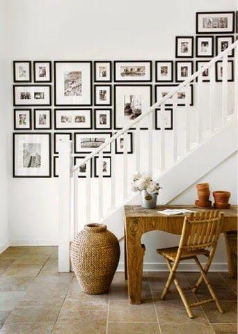 Bildresultat för tavelvägg trappa