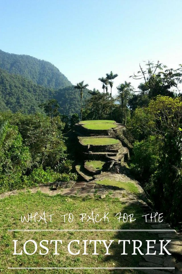 The Lost City Trek to La Ciudad Perdida in Colombiais an awesome hike. Here are some packing tips & essential & recommended items for what to take with you