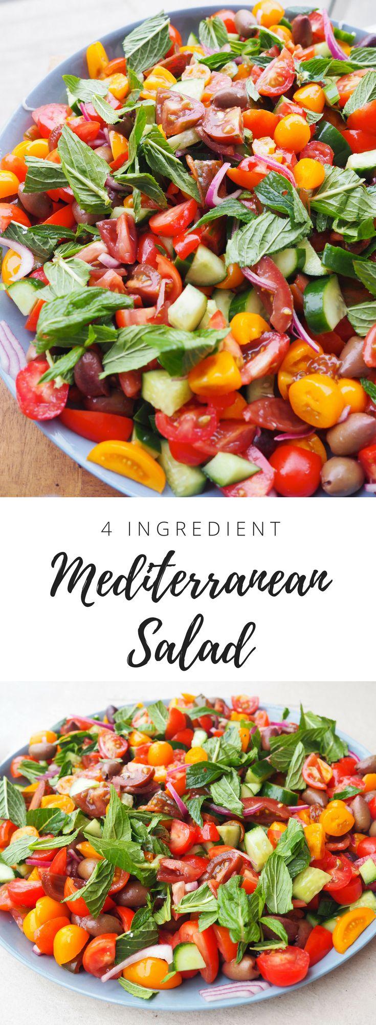 Best Mediterranean Salad Healthy recipe - Lyndi Cohen