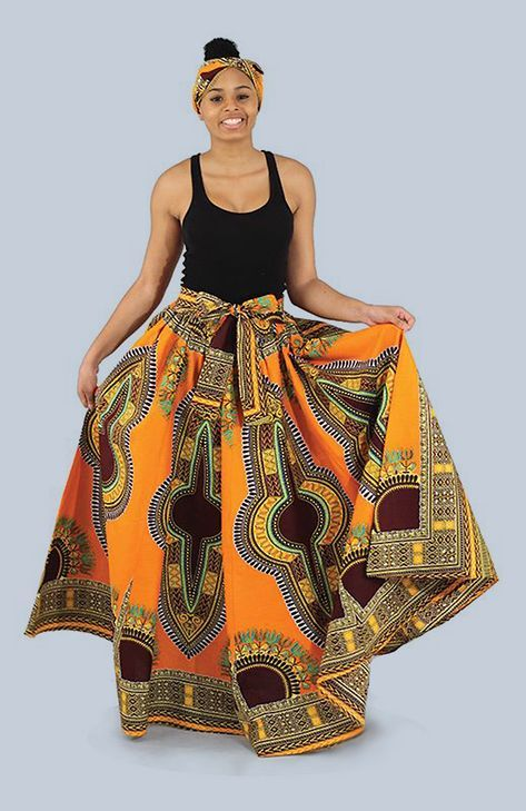Traditional Print Maxi Skirt In 60 Fashion Pinterest African Custom African Skirts Patterns