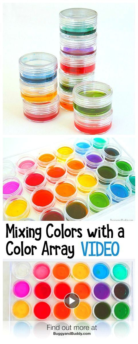Combine math, art, and science in this fun color mixing activity using watercolors: Mixing colors in an array! Use the results to create all kinds of artwork! ~ BuggyandBuddy.com