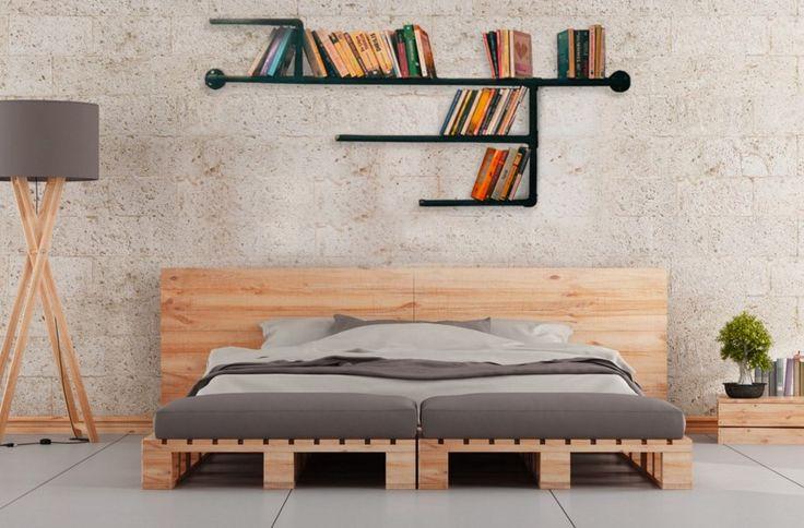 dekoratif su borusu kitaplık tasarımı
