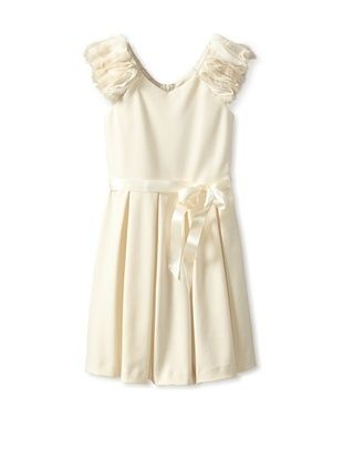 71% OFF Blush by US Angels Girl's Dress with Fur Sleeves (Winter White)