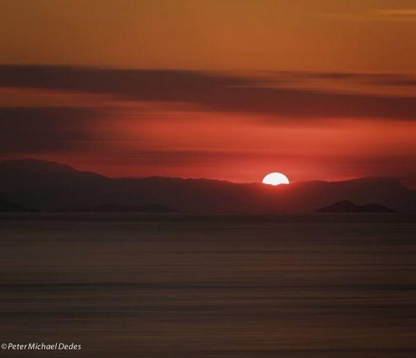 Romantic sunrise in Vagia