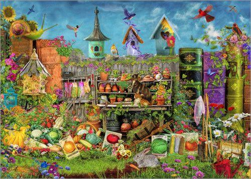 Wimmelbild Garten