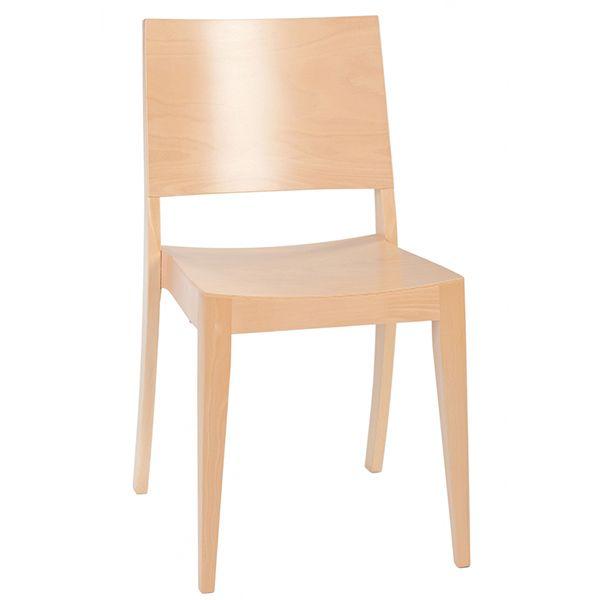 Silla para restaurante de madera, modelo LEMM