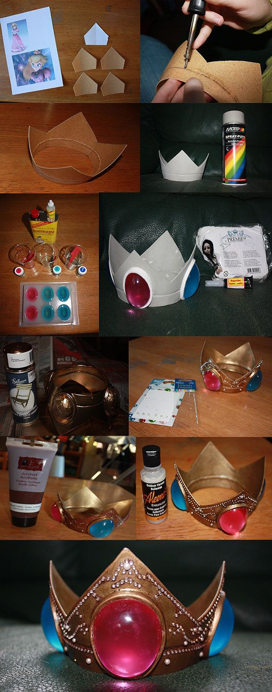 (Princess Peach) crown tutorial. Follow the link for the full tutorial text.