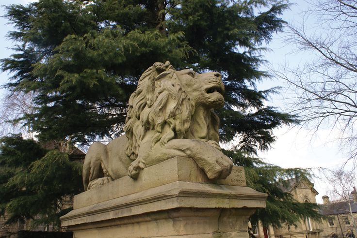 Saltaire lion, by Lisa Firth (June 2013 cover)