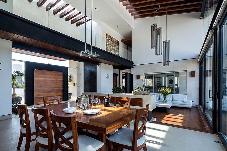 Los espacios de la residencia son secuenciales por lo que se usa un mismo concepto de diseño y decoración.