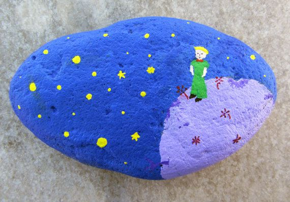 Hand painted stone - The Little Prince