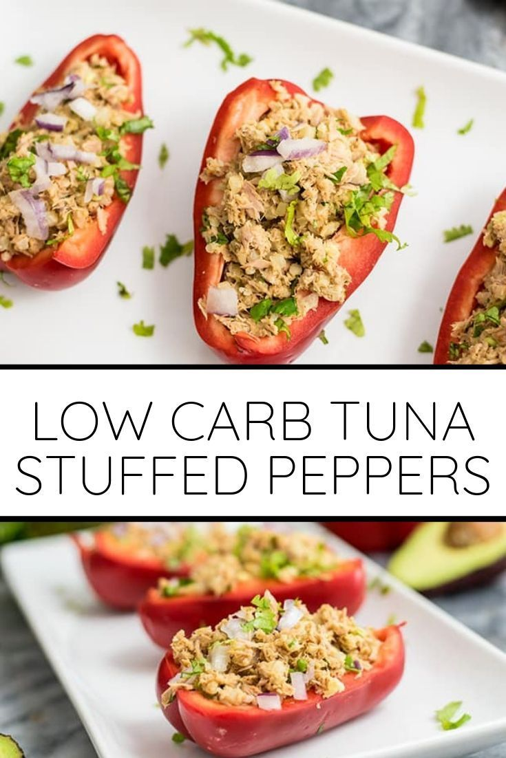 Whole30 Tuna Stuffed Peppers Are A Simple And Easy Low Carb Lunch Or Dinner Recipe This Healthy Re Dairy Free Tuna Recipes Dairy Free Low Carb Carb Free Lunch