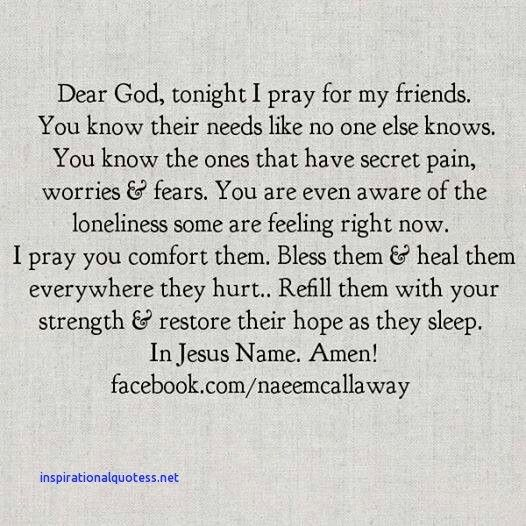 Inspirational Quotes A Prayer for My Friend | Mom Prayers | Prayer