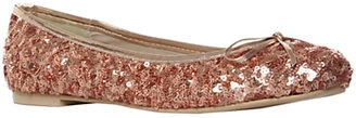 Add a little sparkle into your look with these Carvela Loren Sequin Ballerina Pumps in Salmon.