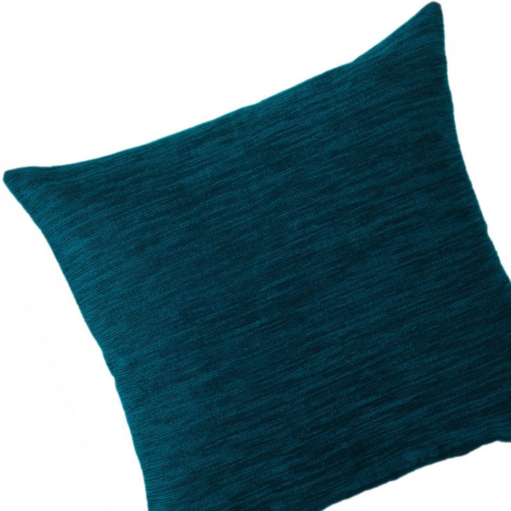 Must have! Get your hands on our luxe Chenille Fine Stripe 43cm cushion. This little beauty can transform any space with its bold, on-trend teal blue hue.  Was $29.95 now just $23.96.