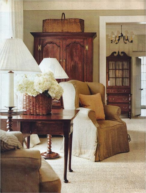 Lovely slipcovers, love the colour. Classic, timeless furniture.......The inheritable home
