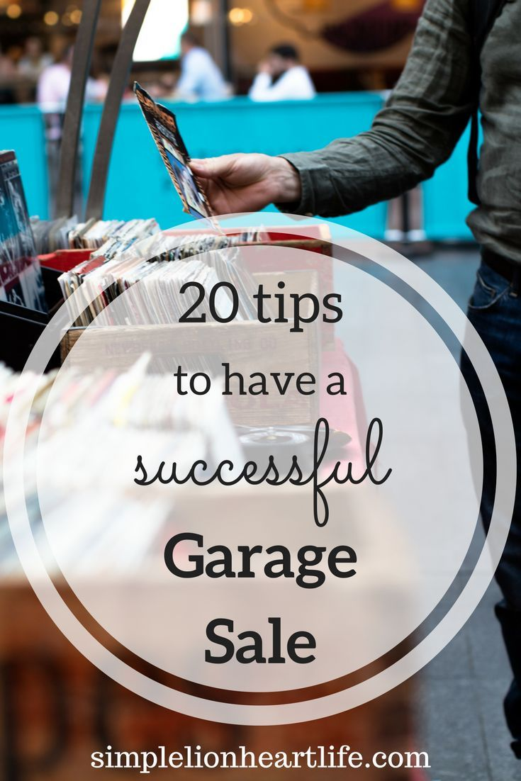 20 Tips to Have a Successful Garage Sale. After decluttering, hosting a garage or yard sale is a great way to get rid of your unwanted items, and make a little money! Follow these tips to make sure your garage sale is a success!