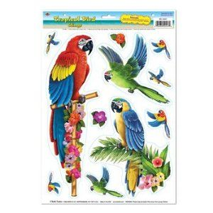 Tropical Bird Clings Party Accessory (1 count) (11/Sh) by BuySeasons SORT. $1.55. Easy Installation - Remove and Reuse.. For Indoor & Outdoor Use.. Completely Assembled. Create Stunning Eye-Catching Displays. Includes (11) clings on (1) sheet.. Save 74% Off!