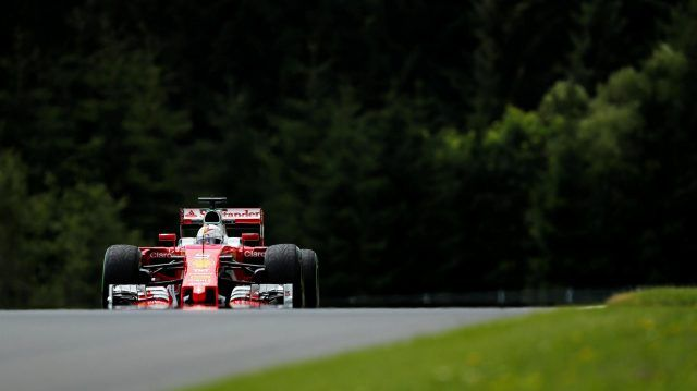 Sebastian Vettel (GER) Ferrari SF16-H at Formula One World Championship, Rd9, Austrian Grand Prix, Practice, Spielberg, Austria, Friday 1 July 2016. © Sutton Images
