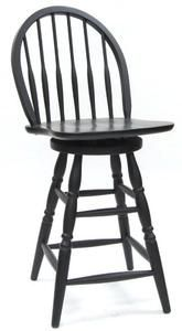 Carolina Classic 24-Inch Swivel Windsor Counter Stool, Antique Black