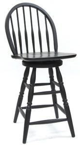 Carolina Classic 24-Inch Swivel Windsor Counter Stool, Antique Black