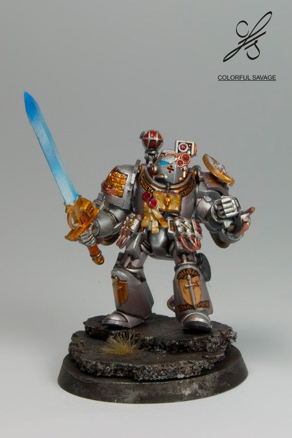 Grey Knight with a sword by Colorfulsavage.deviantart.com on @DeviantArt