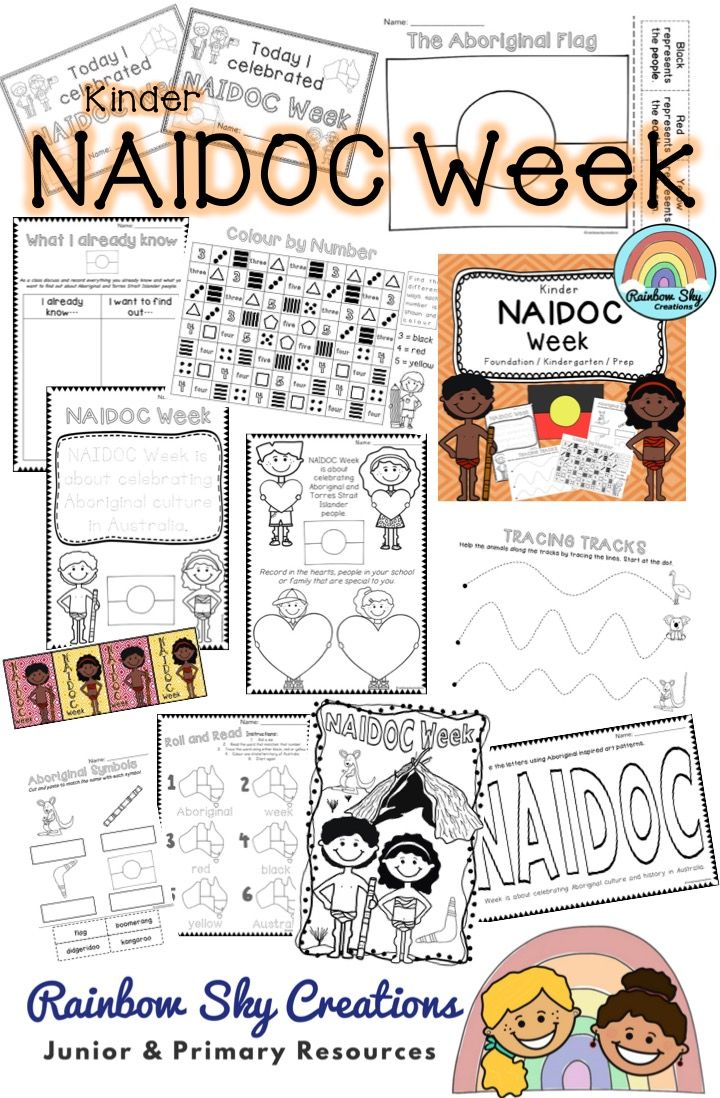 NAIDOC Week Pack for the Early years. This pack consists of 10 activities designed to encourage students to think about the message of NAIDOC Week and to recognise the contributions of Indigenous Australians to our country. ~ Rainbow Sky Creations ~
