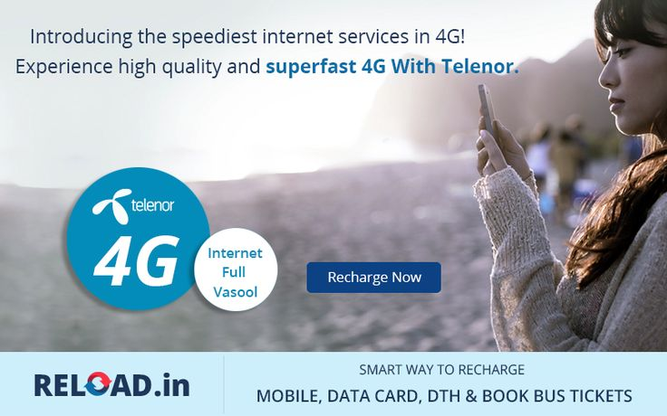 Introducing the speediest internet services in 4G! Experience high quality and superfast 4G With Telenor. #Telenor4G #TelenorIndia Visit @ www.reload.in/telenor-prepaid-mobile-online-recharge/