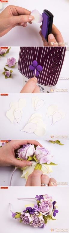 Ободок «Цветочный»   Уроки творчества   Леонардо хобби-гипермаркет - сделай своими руками