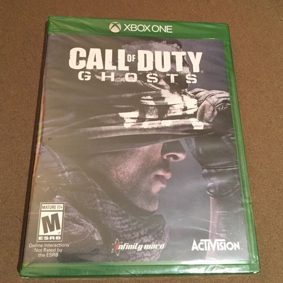 XBOX ONE CALL OF DUTY GHOSTS GAME. NEW! XBOX ONE! CALL OF DUTY/GHOSTS. M RATING. MATURE 17+. ORIGINAL SEAL PACKAGE. NEW! XBOX ONE Accessories