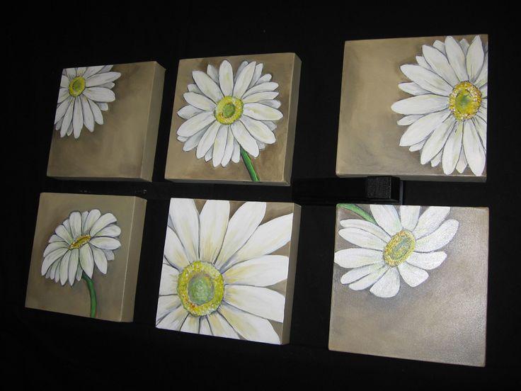Daisies - acrylic on canvas