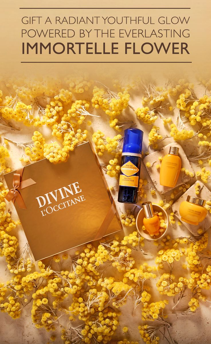 This winter, surprise a divine woman in your life with our most coveted collection. The skincare and beauty must-haves in our Divine anti-aging gift set are made from organic Immortelle essential oil, helping to reduce the appearance of wrinkles and achieve a radiant, youthful glow. Whether it's for mom or another special woman in your life, this gift is as divine as the Immortelle flowers that created it.