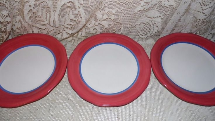 PFALTZGRAFF DINNER PLATES SET OF 3 PARADISE SONG 2003 DISCOUTINUED #Pfaltzgraff
