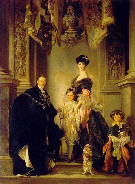 Герцог Марлборо Сингер Сарджент с семьей. Джованни Больдини