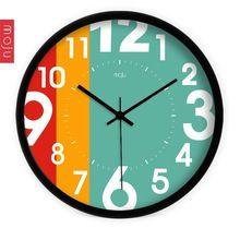 12 polegada moderne brève horloge murale pour salon et chambre numérique…