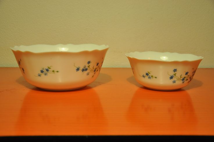 Arcopal France Fruitbowls. Veronica floral pattern.