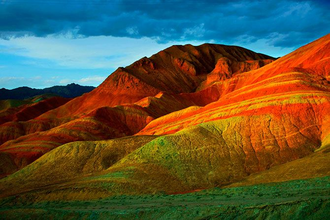 Landscape Denksiya - colored mountains of China 17 Pics