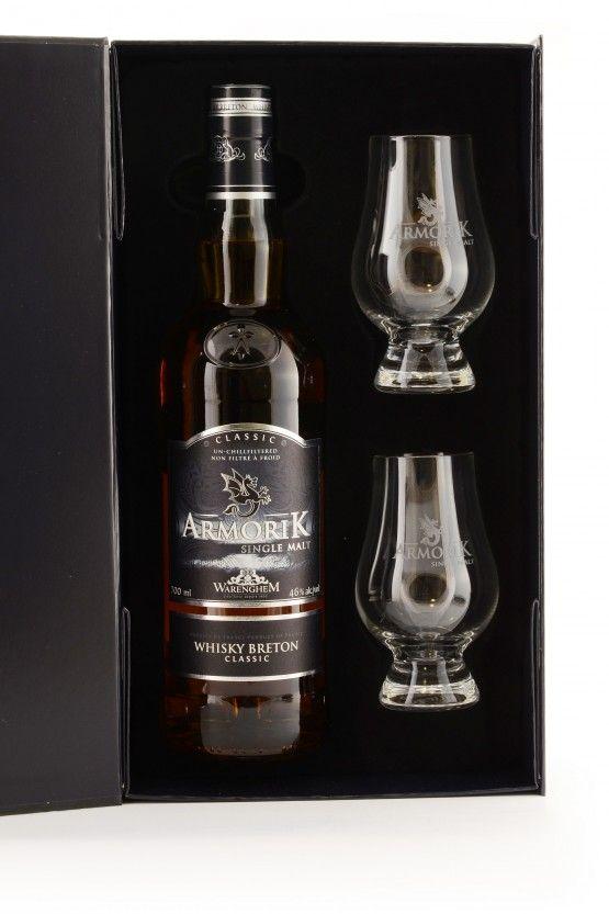 Armorik Whisky Breton Classic mit 2 Gläsern, 46%