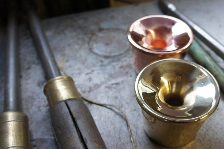 Candle case, hand made in untreated copper and brass with a solid craftsmanship in the County of Västergötland i Sweden