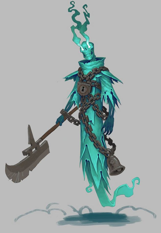 Chained ghost concept art