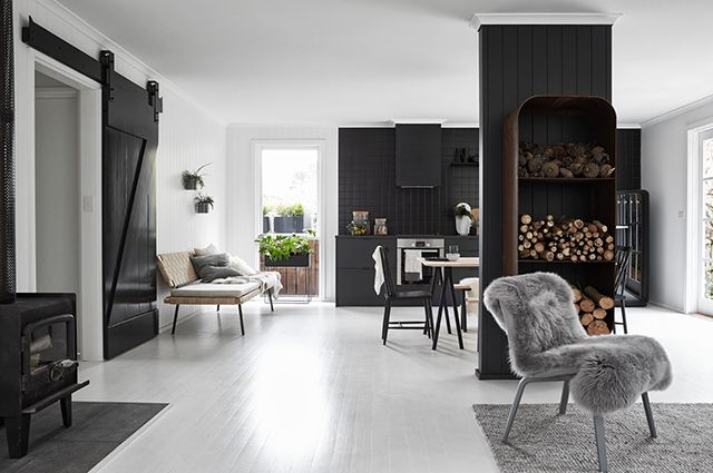 The Nord House maison scandi en noir et blanc Melbourne via Nat et nature