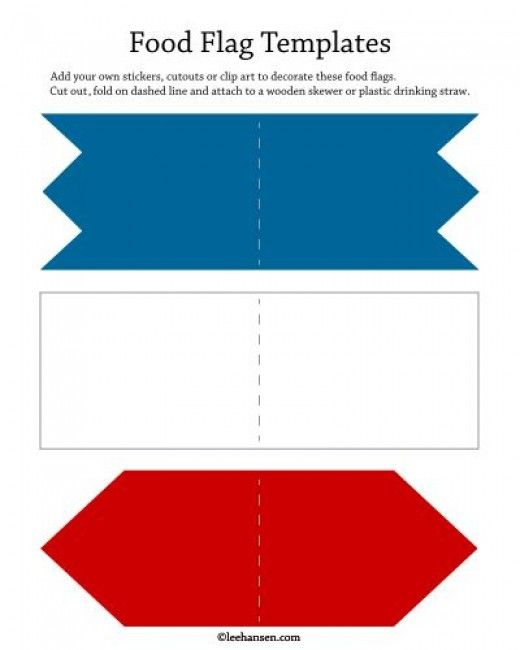 Print and cut out food flags