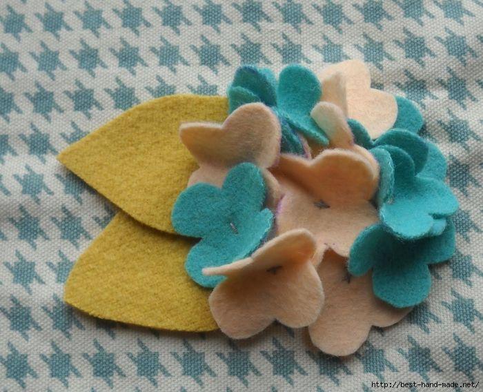 Handmade-courses, templates, tutorials: Flowers made of felt