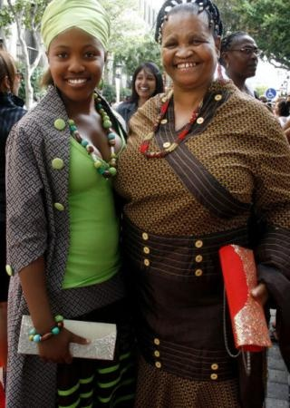 SONA 2013 Fashion | Thandiswe Chayata and grandmother Dyshna Kanye | IOL.co.za