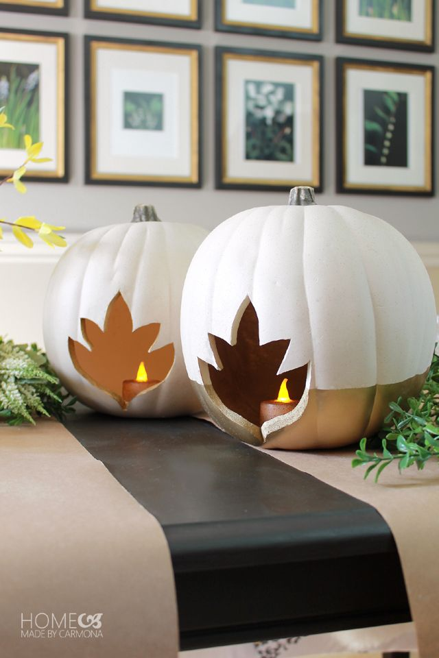 17 best ideas about pumpkin centerpieces on pinterest for Glow in the dark paint for real pumpkins