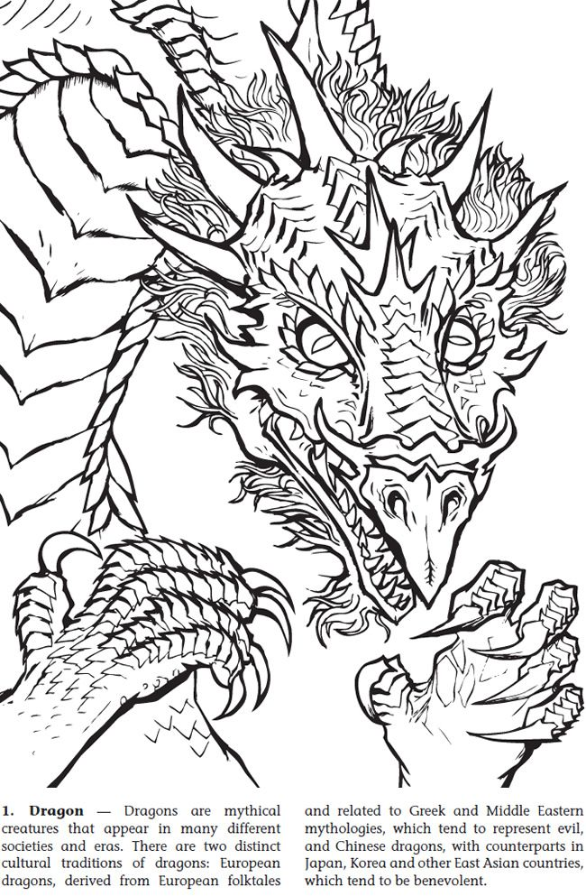 98 best Adult Coloring Pages: Dragons images on Pinterest ...